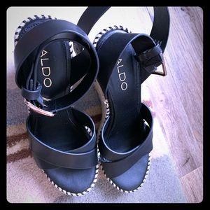 Aldo strappy heels/wedges